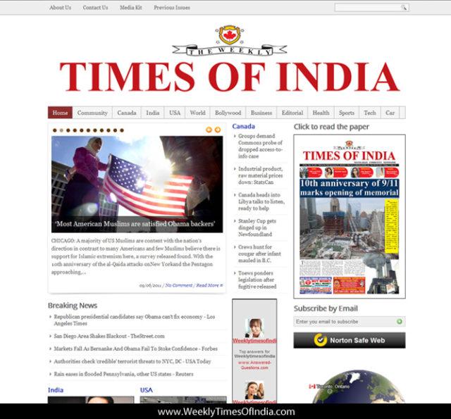TOI Website design