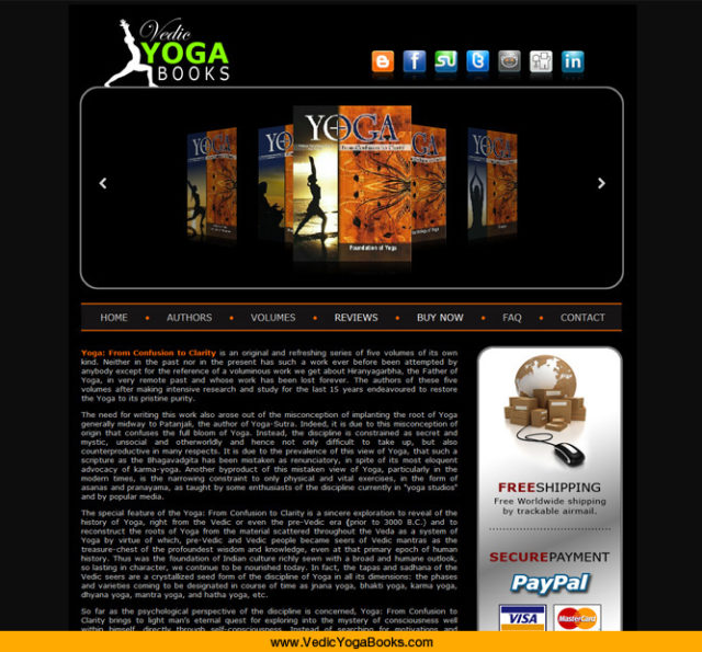 Yoga Books Website