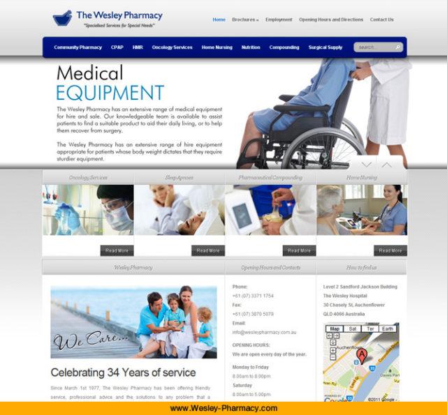 Wesley Pharmacy Website