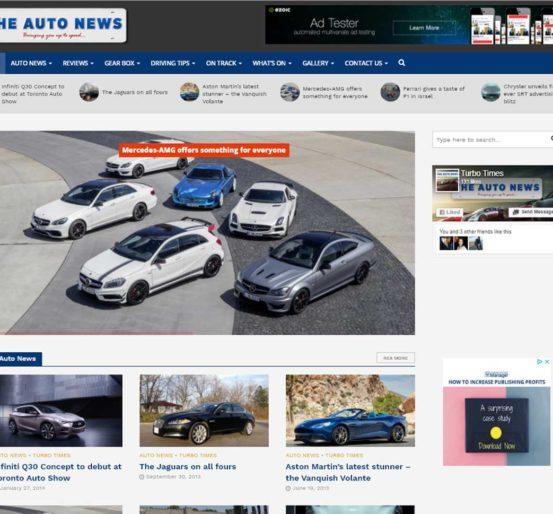 The Auto News Website