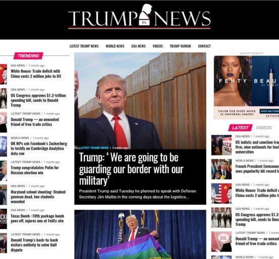 Trump In News Website